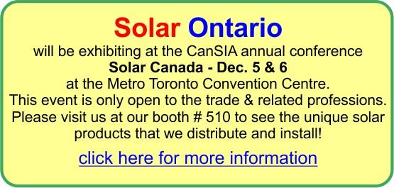 Cansia solar canada show  december 5 & 6 2016